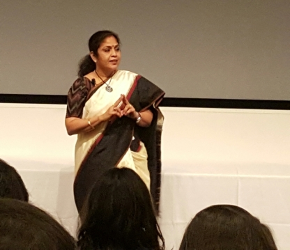 Speaking at Harvard Photo Credit- Shri Kanaskar.